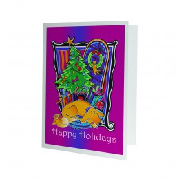 Pet Happy Holidays Photo Mount
