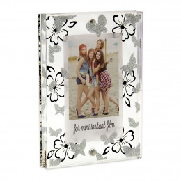 Instax Mini Acrylic Block Butterfly & Flower Picture Frame
