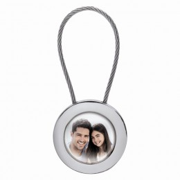 Round Rope Photo Keychain
