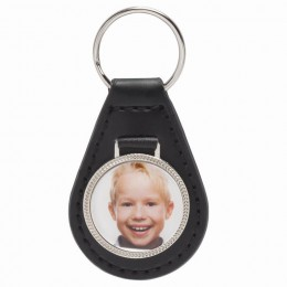 Leather Photo Key Fob