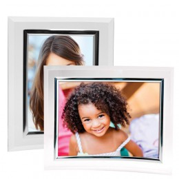 Curved Plastic Picture Frames with Silver Bezel