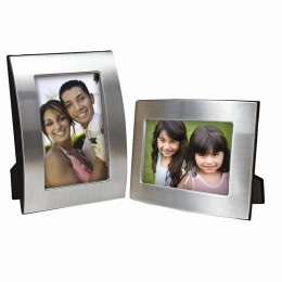 Brushed Silver Curved Picture Frame