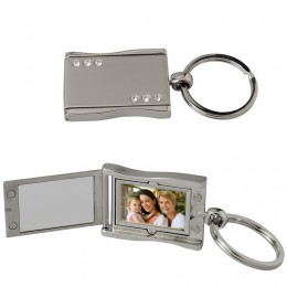 Rhinestone Photo Keychain