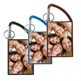 wholesale snapins carabiner keytag picture frame photo 2x3 bulk
