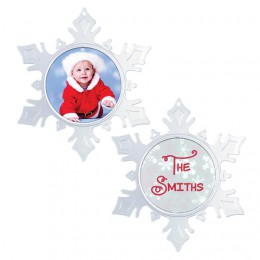 wholesale cheap inexpensive plastic acrylic round circle picture photo frame snowflake ornament diy custom create your own